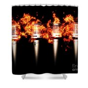 Singeing Stage Show Shower Curtain