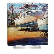 Sisters On Stilts Shower Curtain