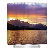 Sitka Sunrise Shower Curtain by Dawn Richards