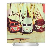 Sixties Dreaming Shower Curtain