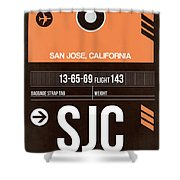 Sjc San Jose Luggage Tag II Shower Curtain