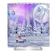 Skating Time Shower Curtain
