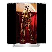 Skeleton  In Torturedevise Shower Curtain