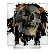 Skull - 4 Shower Curtain
