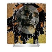 Skull - 9 Shower Curtain