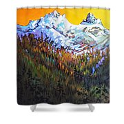 Sky Pilot And Co-pilot Peaks, Coastal Range, South Of Squamish, British Columbia Shower Curtain