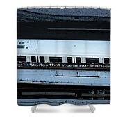 Skytrain Wagon  Shower Curtain by Juan Contreras