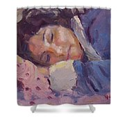 Sleeping Lady Shower Curtain