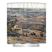 Slope County Badlands Reverie Shower Curtain