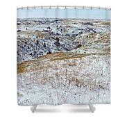 Slope County Snowfall Shower Curtain