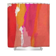 Slow Burn- Abstract Art By Linda Woods Shower Curtain