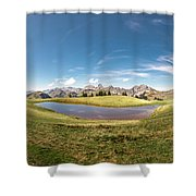 Small Lake In The Mountains Shower Curtain