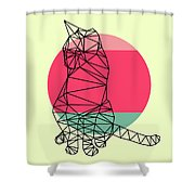 Smart Cat And Sunset Shower Curtain