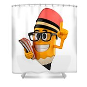 Smart Pencil Shower Curtain