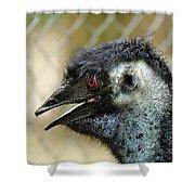 Smiley Face Emu Shower Curtain