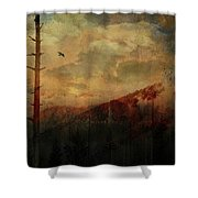 Smoky Morning Shower Curtain