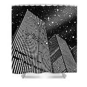 Snow Collection Set 03 Shower Curtain