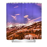 Snow Covered Mountains Shower Curtain