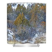Snow-dusted In West Dakota Shower Curtain