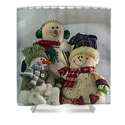 Snow Folk Shower Curtain