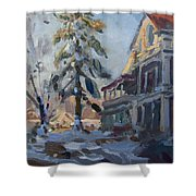 Snow In Town Shower Curtain