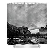 Snow In Yosemite Valley II Shower Curtain