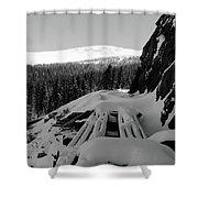 Snow Trellis Shower Curtain