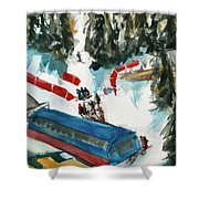 Snowbird Lift Study Shower Curtain