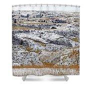 Snowy Dakota Shower Curtain