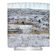 Snowy Slope County Shower Curtain