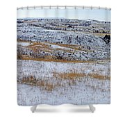 Snowy Slope County Territory Shower Curtain
