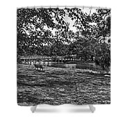 Solitude In Black And White Shower Curtain