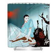 Somatoparaphrenia Shower Curtain