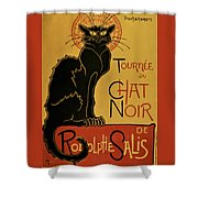 Soon, The Black Cat Tour By Rodolphe Salis - Digital Remastered Edition Shower Curtain