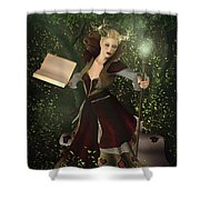Sorceress And Magic Shower Curtain