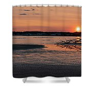 Soundview Sunset Shower Curtain by Kyle Lee