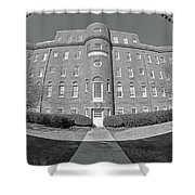 South Carolina State Hospital Black And White Shower Curtain by Lisa Wooten
