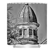 South Carolina State Hospital Dome Black And White 3 Shower Curtain by Lisa Wooten