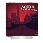 South Congress Avenue Shower Curtain