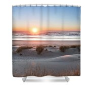 South Jetty Beach Sunset, No. 4 Shower Curtain by Belinda Greb