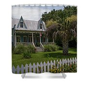 Southern Coastal Tin Roof Cottage Shower Curtain