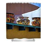 Southwestern Bowls Shower Curtain