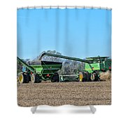 Soybean Harvest Max Shower Curtain