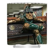 Sparty At Rest Shower Curtain