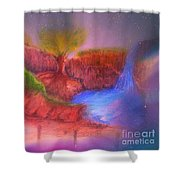 Spec In The Galaxy Shower Curtain