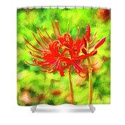 Spider Lily Cezanne Shower Curtain