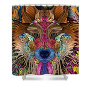 Spirit Wolf Shower Curtain by Mark Taylor