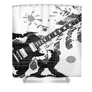 Splatter Guitar Shower Curtain