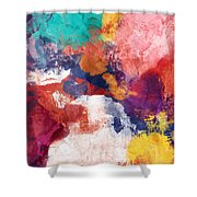 Spring Crush 3- Abstract Art By Linda Woods Shower Curtain