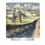 Spring In The Bellet Fruit Orchard Shower Curtain